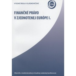 Finančné právo v zjednotenej Európe I
